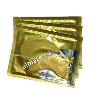 """Купить Коллагеновые патчи """"Collagen Crystal Eye Bag Mask"""" для кожи вокруг глаз с биозолотом 10 штук,Интернет-магазин Freyia.ru (фрейя)"""