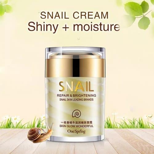 """Купить Крем для лица с экстрактом улитки и маслом ши """"Snail Repair & Brightening Cream"""" 60 гр"""