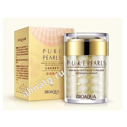 """Купить Крем на основе жемчужиной эссенции """"BioAqua Pure Pearls"""" 60 гр"""