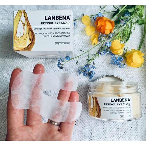 Купить Патчи под глаза LANBENA Retinol Eye Mask от морщин с ретинолом, 50 шт. 121 гр.