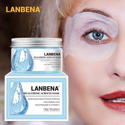 Купить Патчи под глаза LANBENA Hyaluronic Acid Eye Mask от отеков и темных кругов, 50 шт. 121 гр.